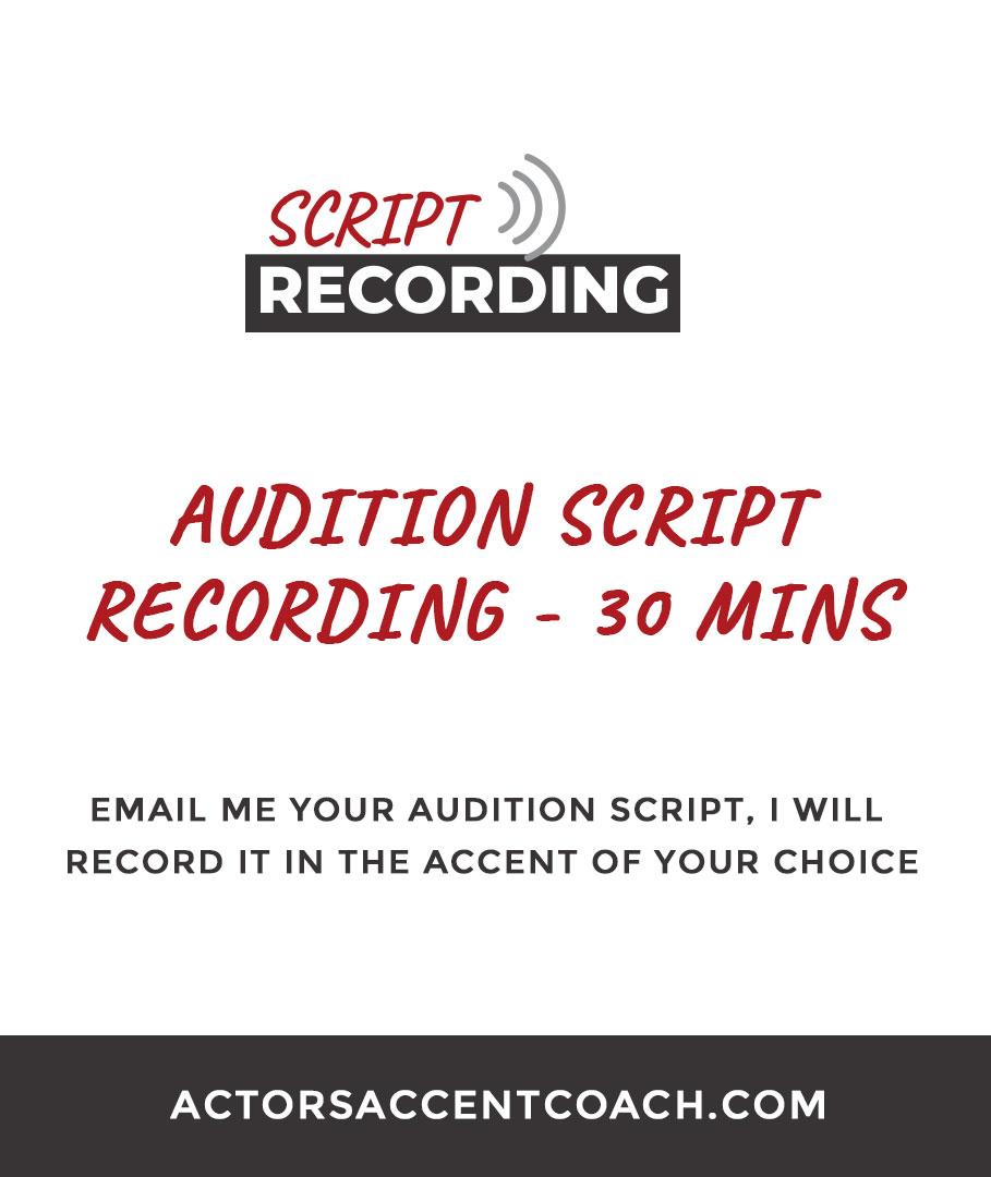 Sarah Valentine, Script Recording